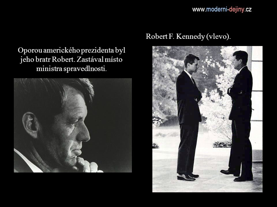 Robert F. Kennedy (vlevo).