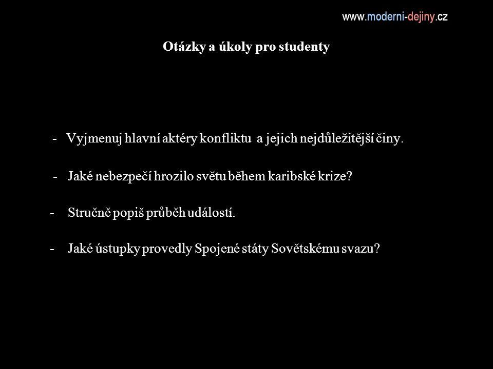 Otázky a úkoly pro studenty