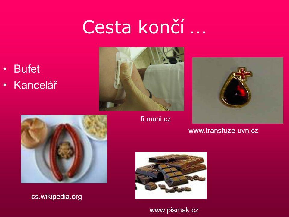 Cesta končí … Bufet Kancelář fi.muni.cz www.transfuze-uvn.cz