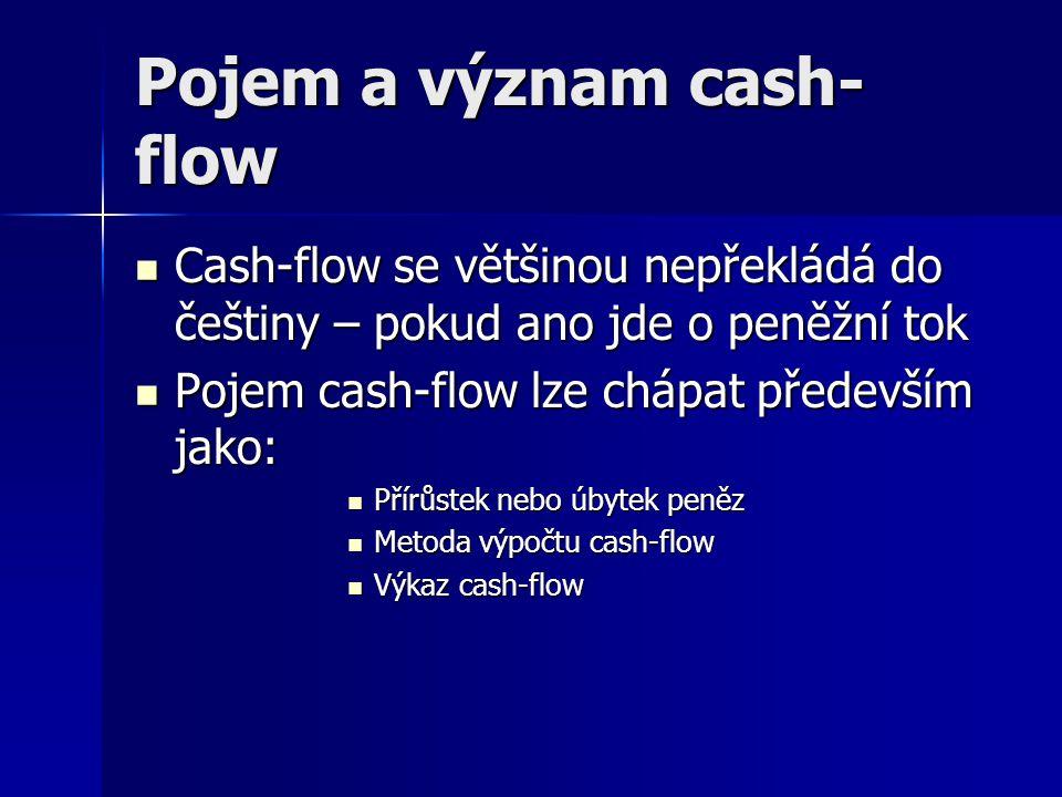 Pojem a význam cash-flow