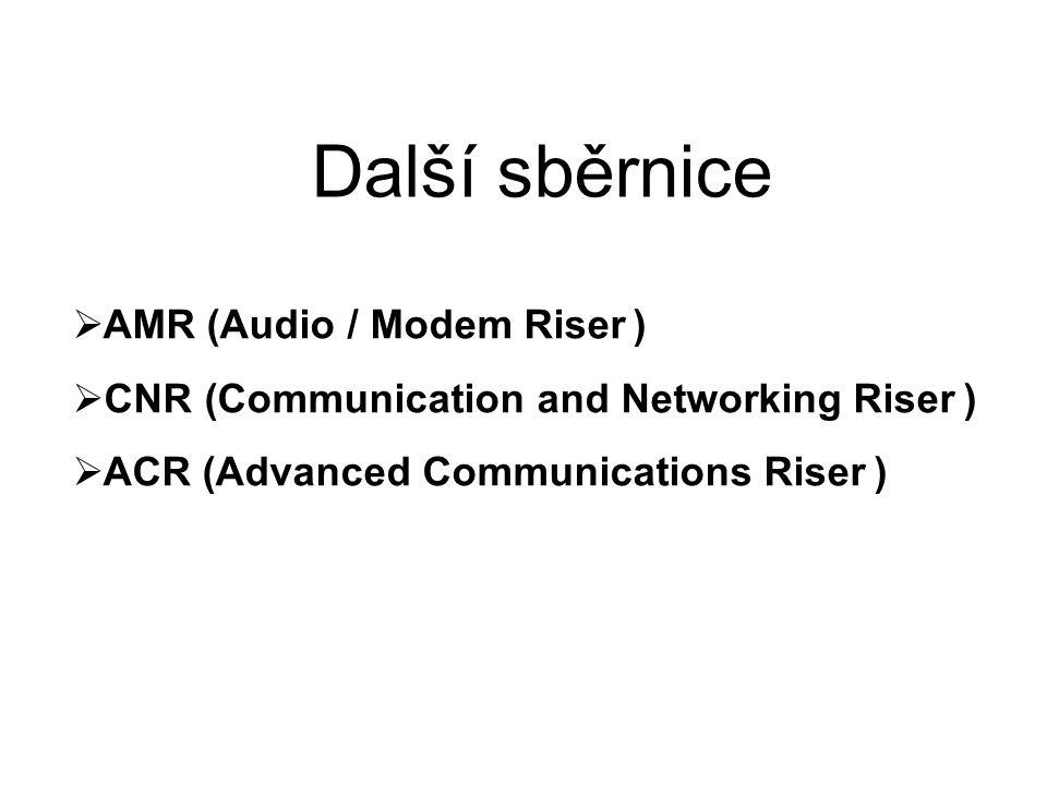 Další sběrnice AMR (Audio / Modem Riser )