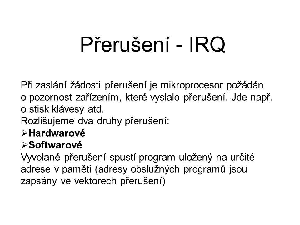 Přerušení - IRQ