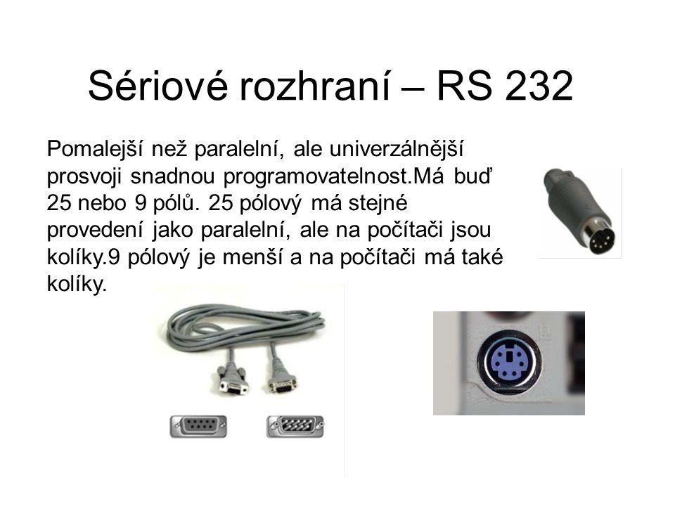 Sériové rozhraní – RS 232