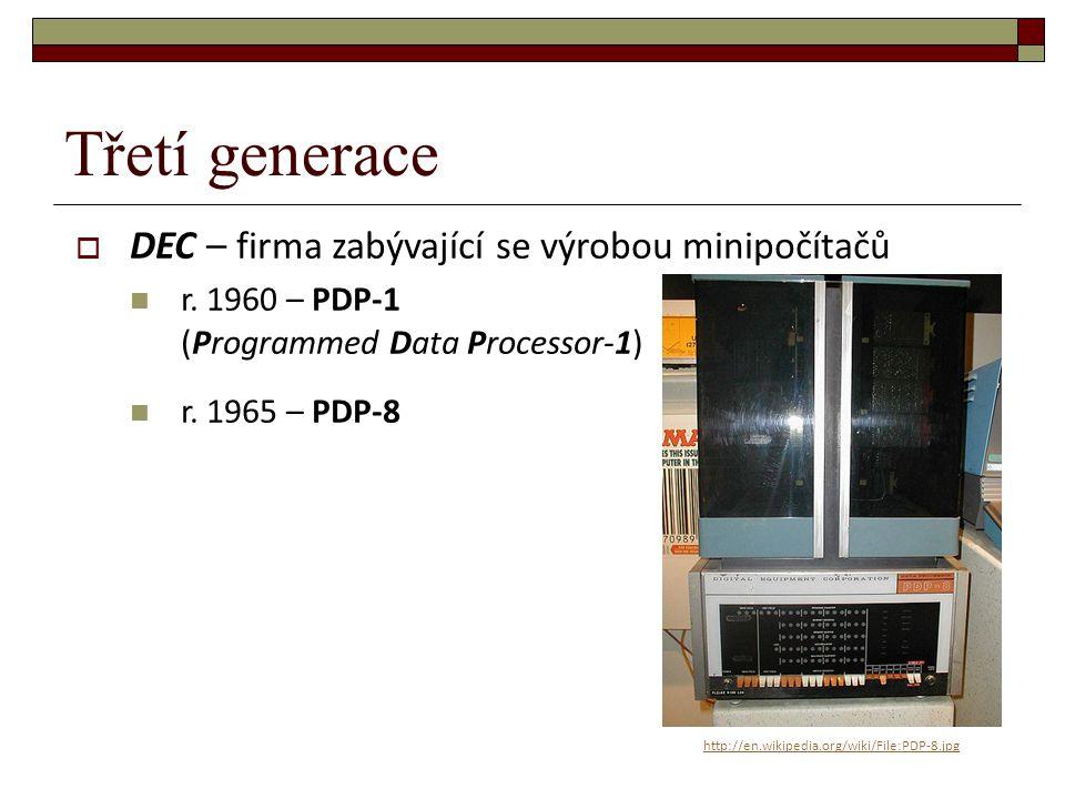 Třetí generace DEC – firma zabývající se výrobou minipočítačů