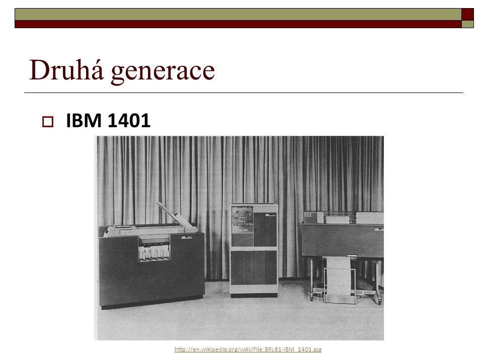 Druhá generace IBM 1401 http://en.wikipedia.org/wiki/File:BRL61-IBM_1401.jpg