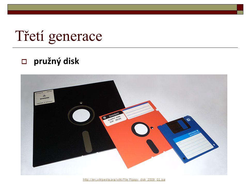 Třetí generace pružný disk
