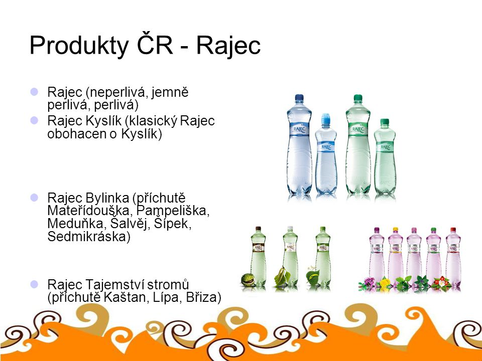 Produkty ČR - Rajec Rajec (neperlivá, jemně perlivá, perlivá)