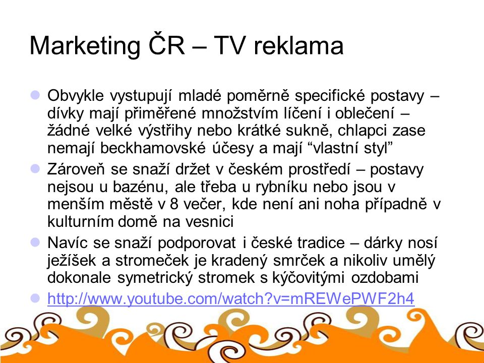 Marketing ČR – TV reklama