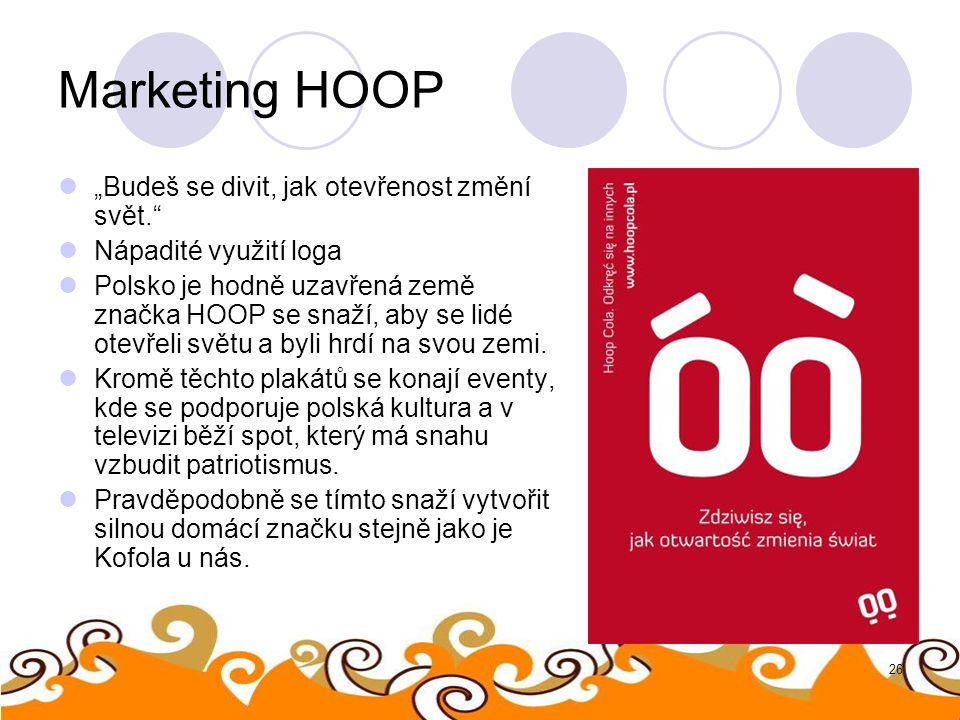 """Marketing HOOP """"Budeš se divit, jak otevřenost změní svět."""