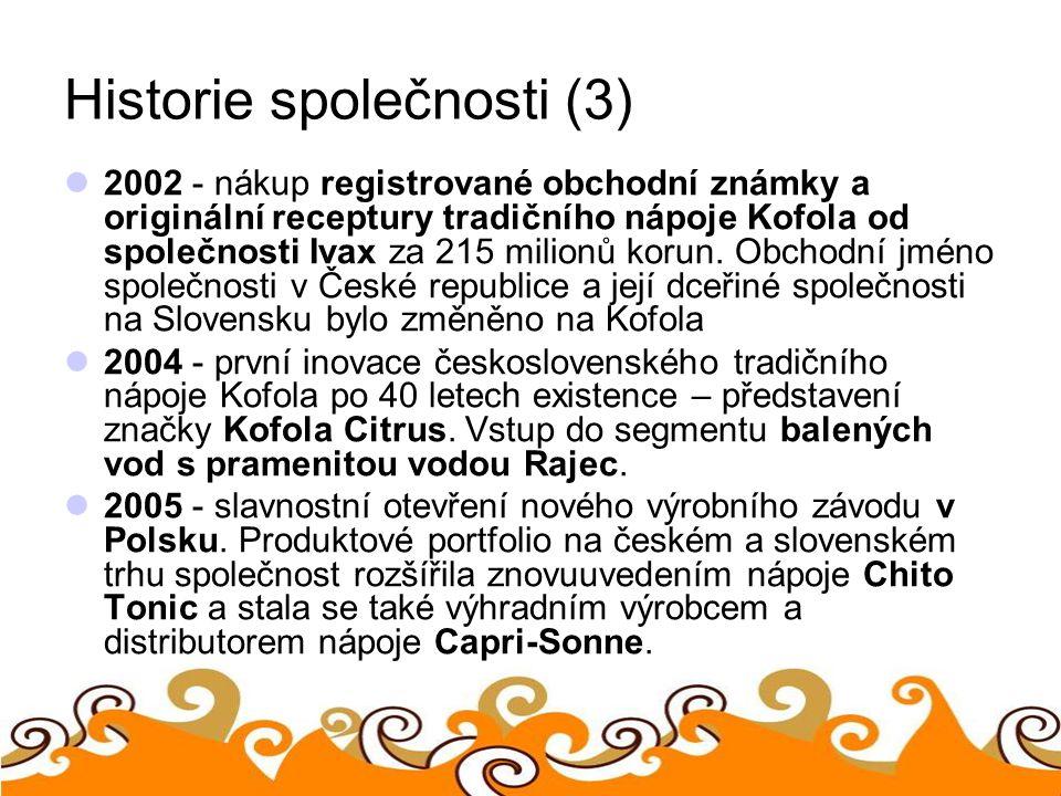 Historie společnosti (3)