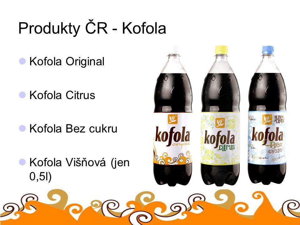 Produkty ČR - Kofola Kofola Original Kofola Citrus Kofola Bez cukru