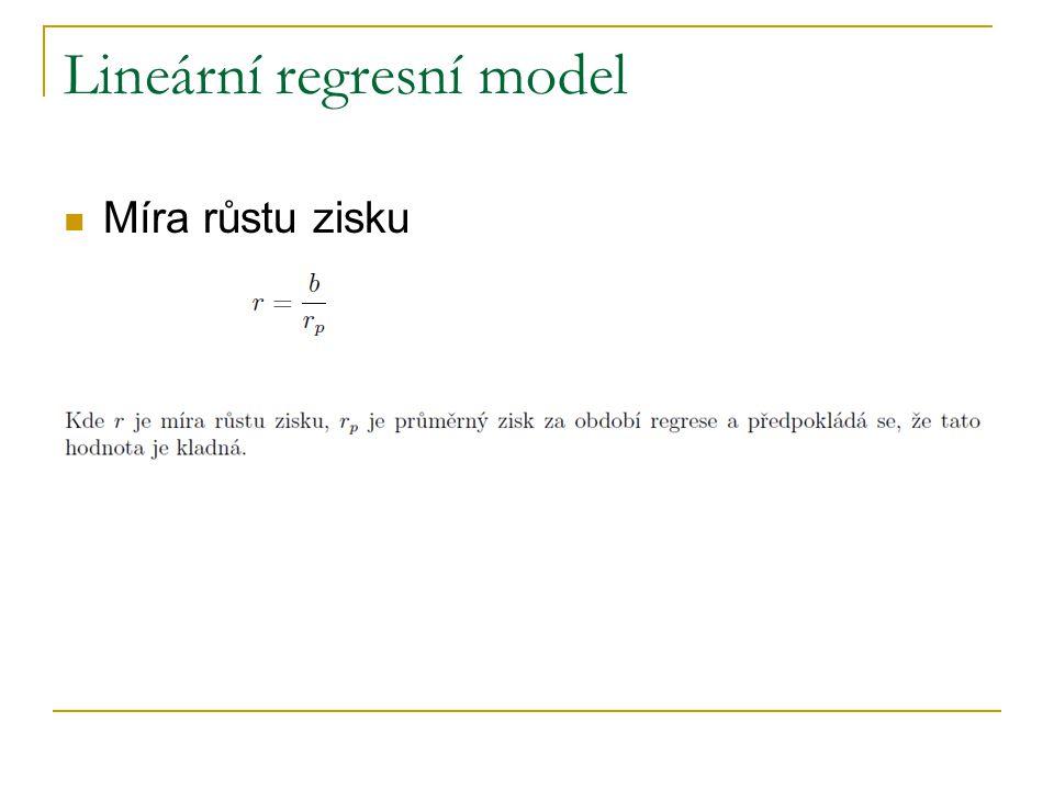 Lineární regresní model