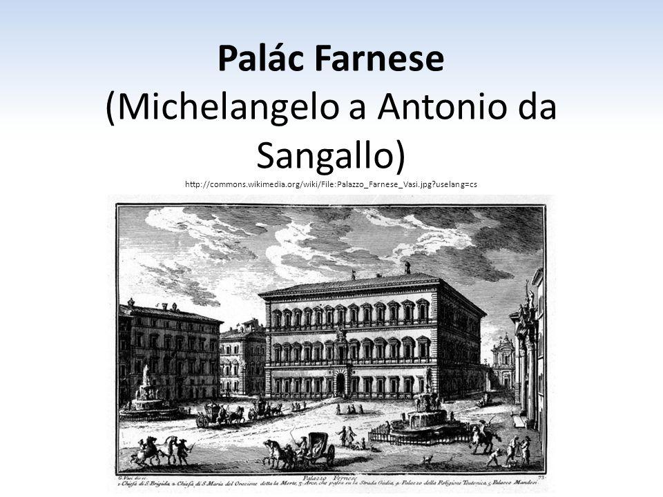 (Michelangelo a Antonio da Sangallo)
