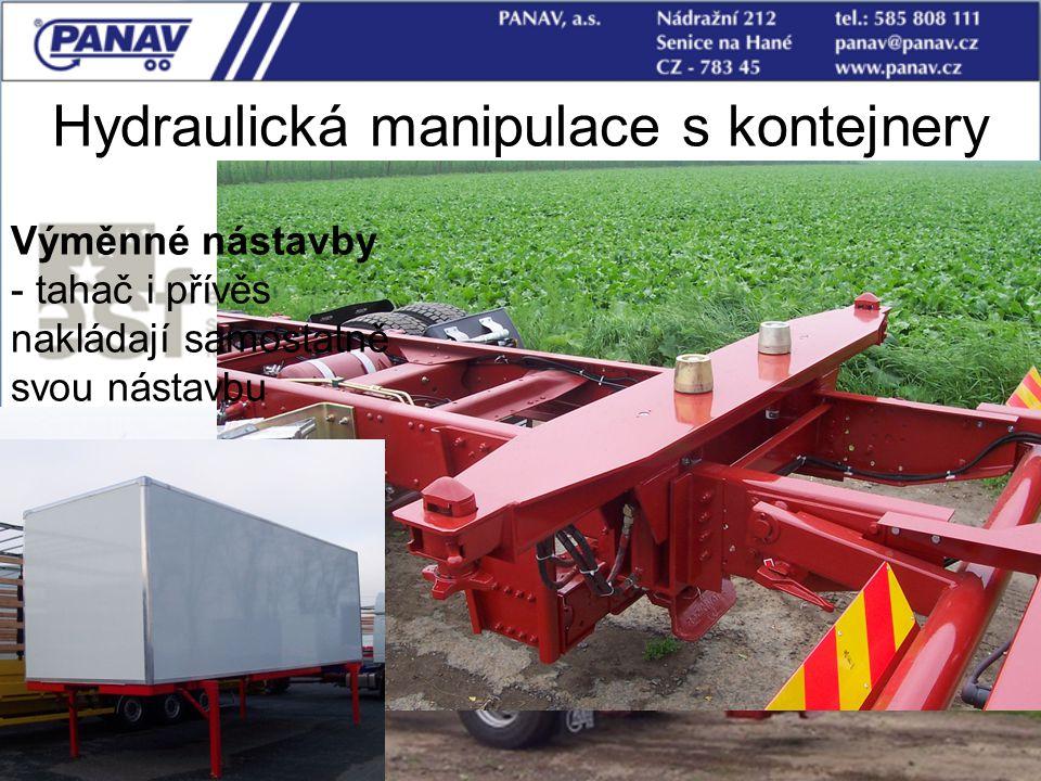 Hydraulická manipulace s kontejnery