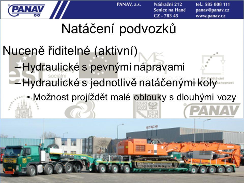 Natáčení podvozků Nuceně řiditelné (aktivní)