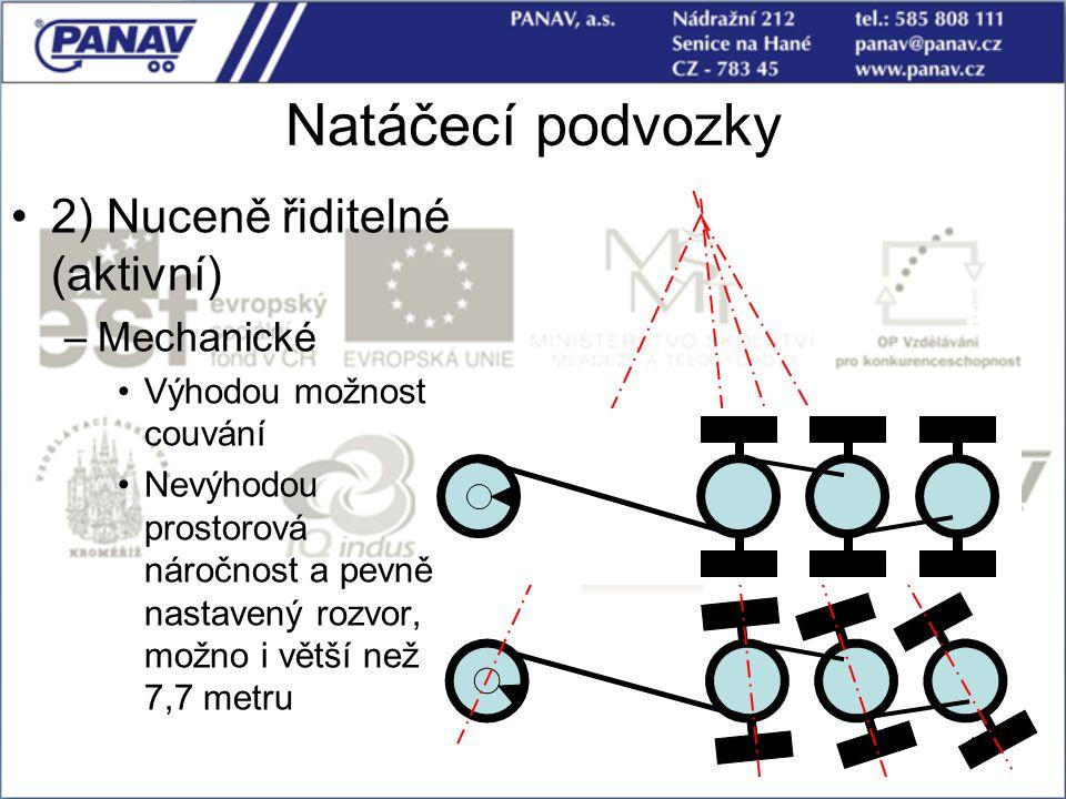 Natáčecí podvozky 2) Nuceně řiditelné (aktivní) Mechanické