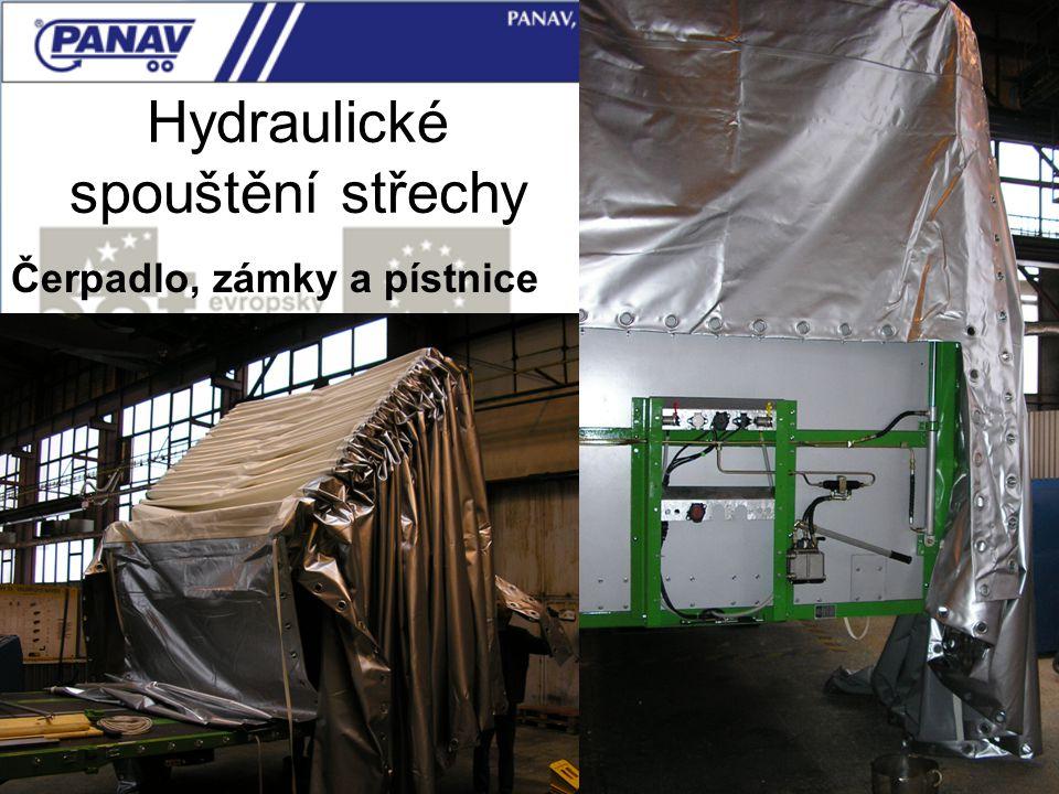 Hydraulické spouštění střechy