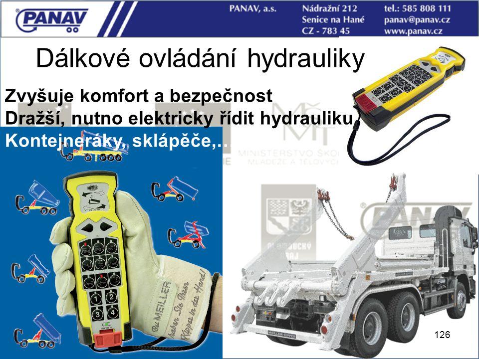 Dálkové ovládání hydrauliky