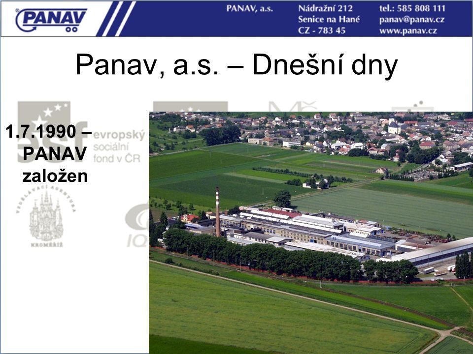 Panav, a.s. – Dnešní dny 1.7.1990 – PANAV založen