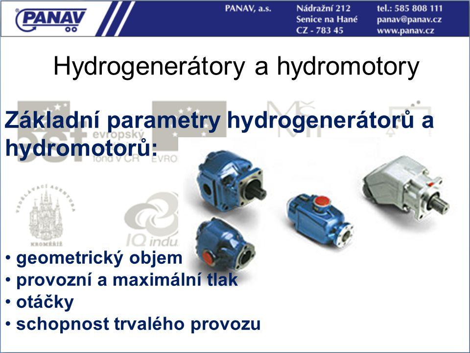 Hydrogenerátory a hydromotory