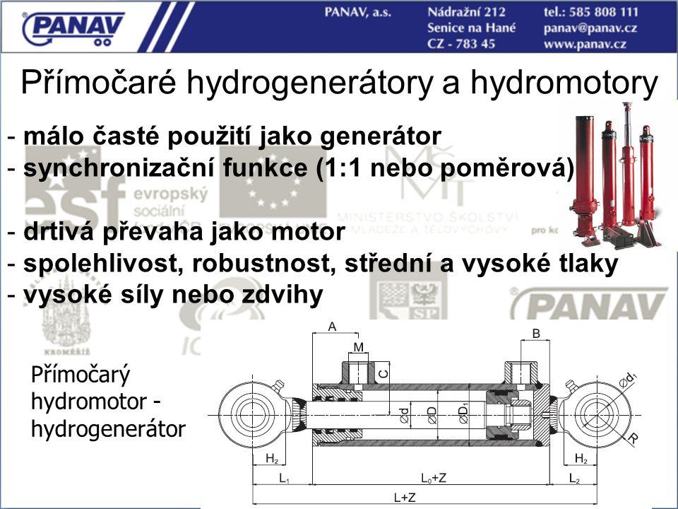 Přímočaré hydrogenerátory a hydromotory