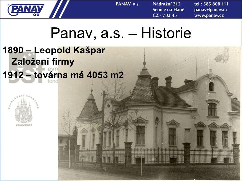 Panav, a.s. – Historie 1890 – Leopold Kašpar Založení firmy