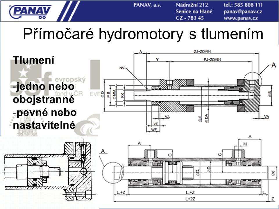 Přímočaré hydromotory s tlumením