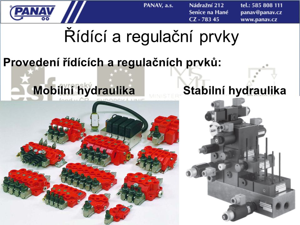 Řídící a regulační prvky