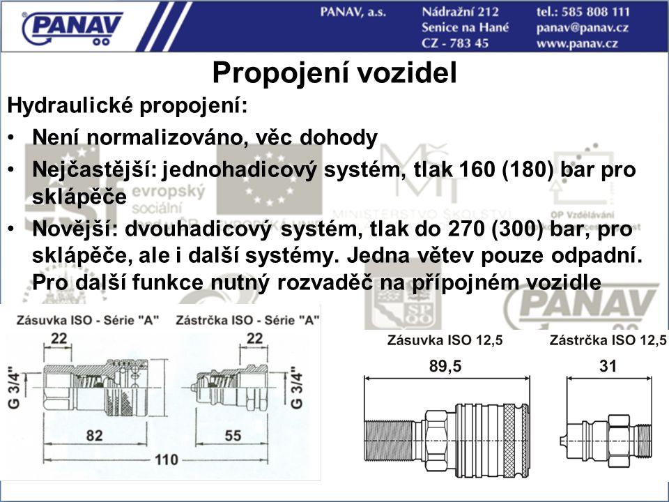 Propojení vozidel Hydraulické propojení: