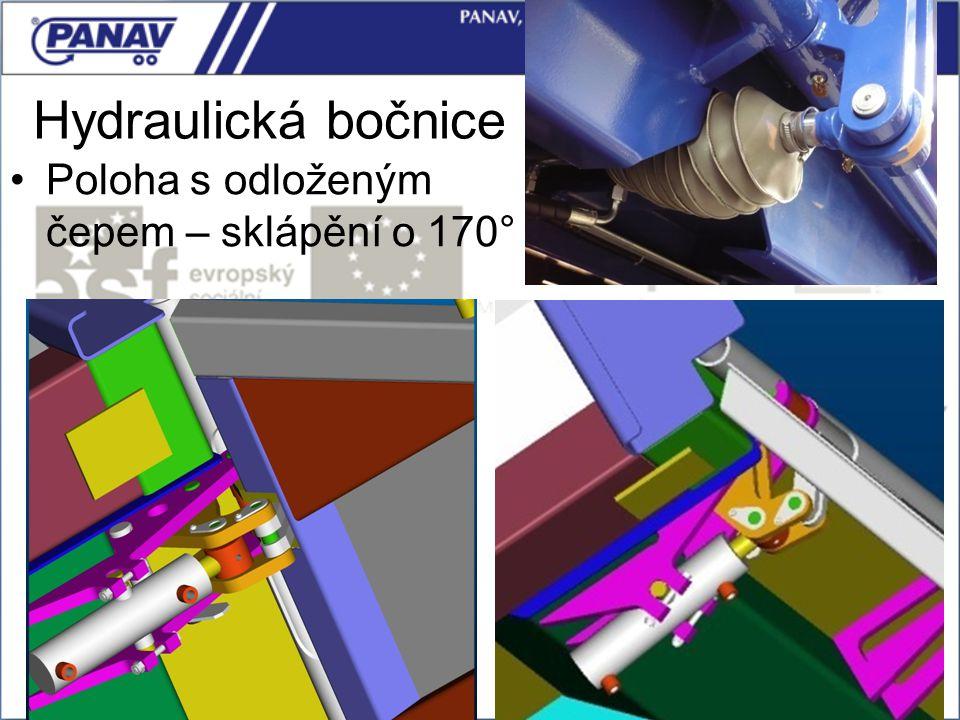 Hydraulická bočnice Poloha s odloženým čepem – sklápění o 170°