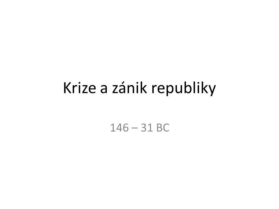 Krize a zánik republiky