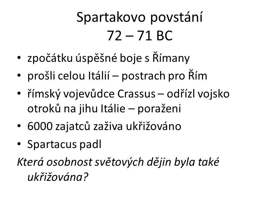 Spartakovo povstání 72 – 71 BC