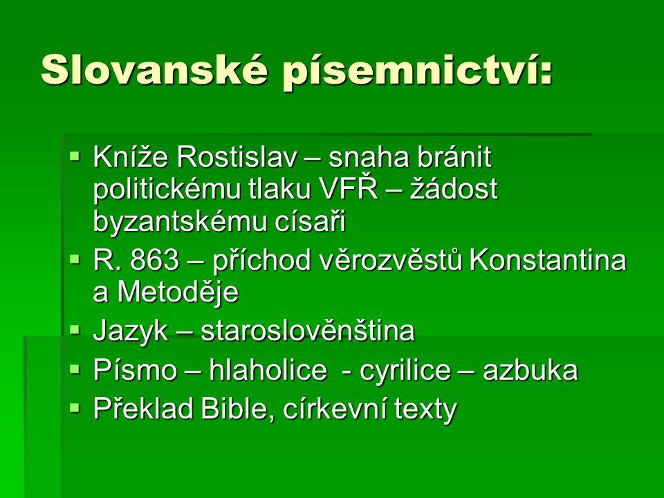 Slovanské písemnictví: