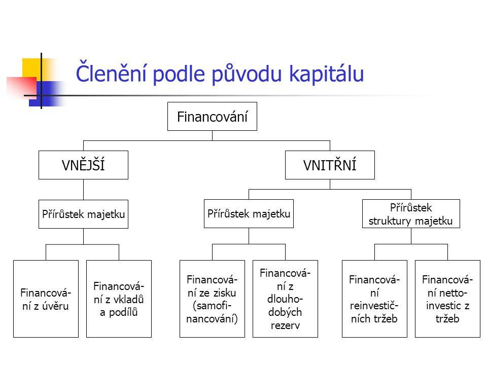 Členění podle původu kapitálu