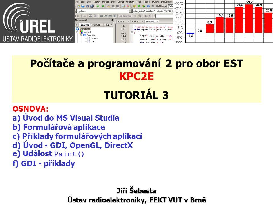 Počítače a programování 2 pro obor EST KPC2E TUTORIÁL 3
