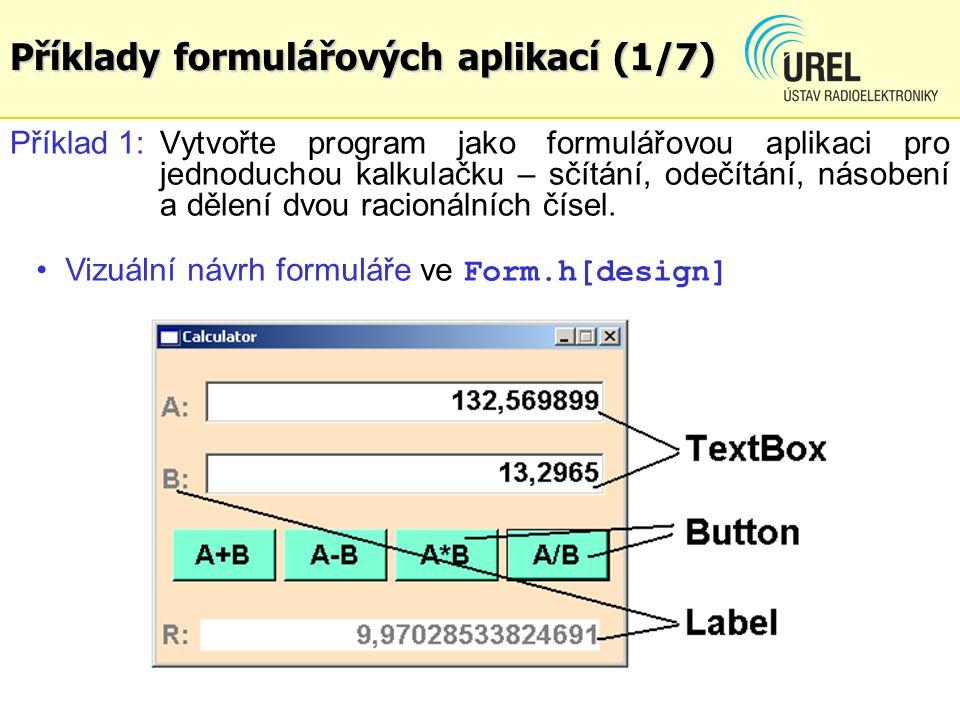 Příklady formulářových aplikací (1/7)