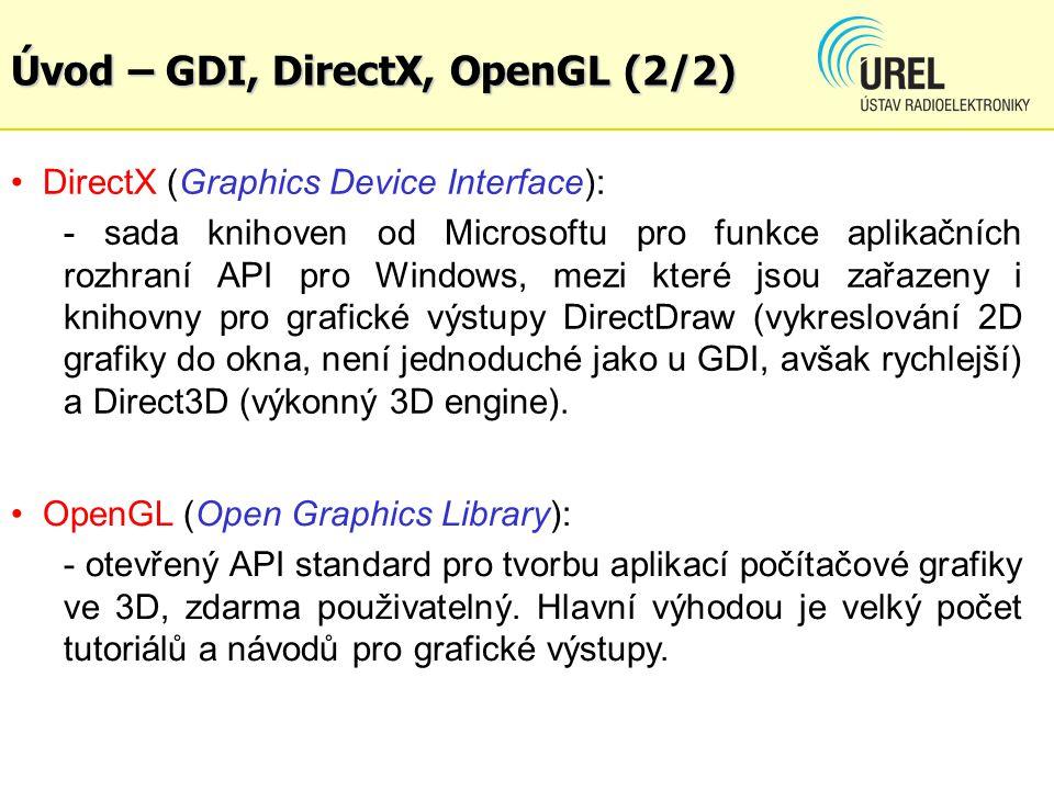 Úvod – GDI, DirectX, OpenGL (2/2)