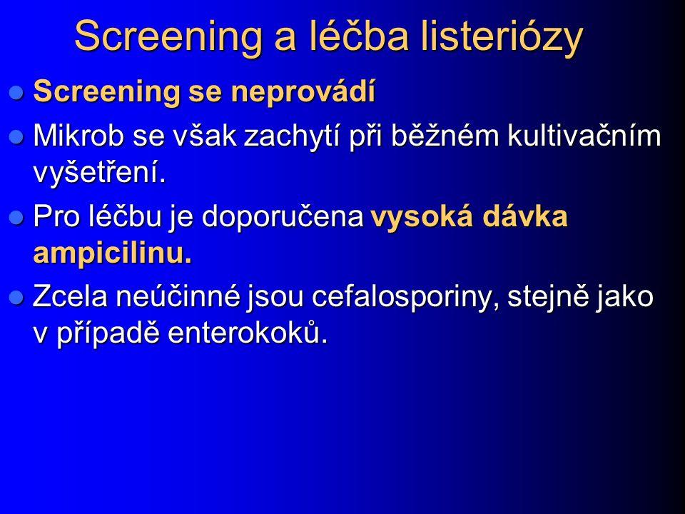 Screening a léčba listeriózy