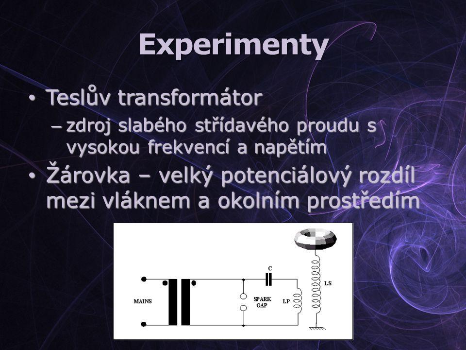 Experimenty Teslův transformátor