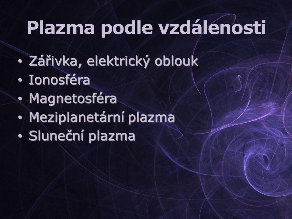 Plazma podle vzdálenosti