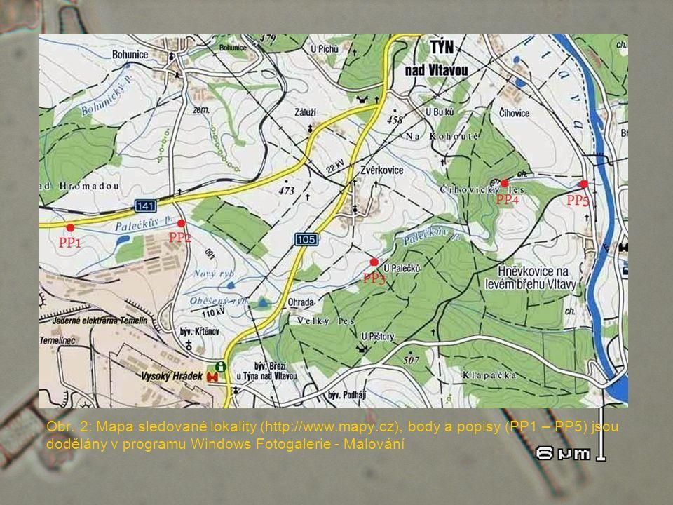 Obr. 2: Mapa sledované lokality (http://www. mapy