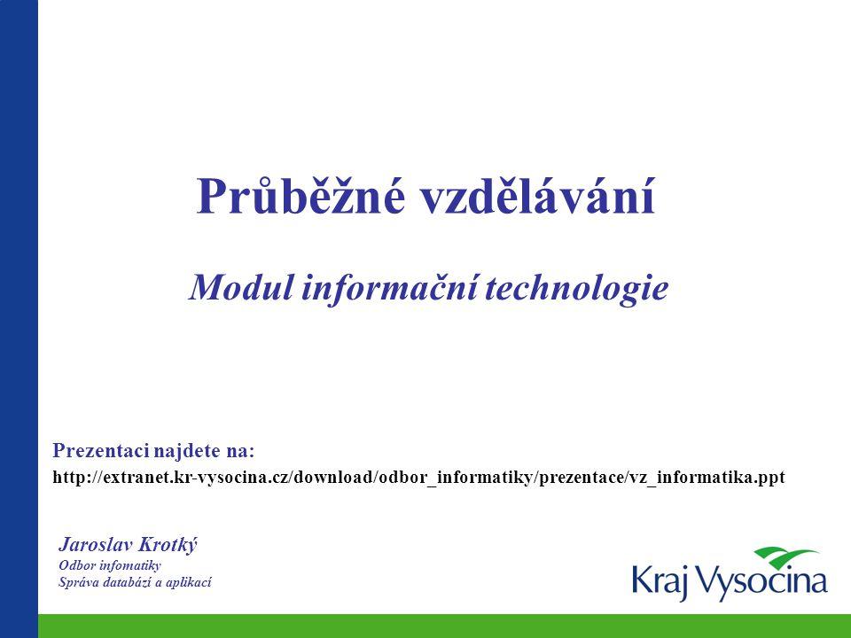 Modul informační technologie