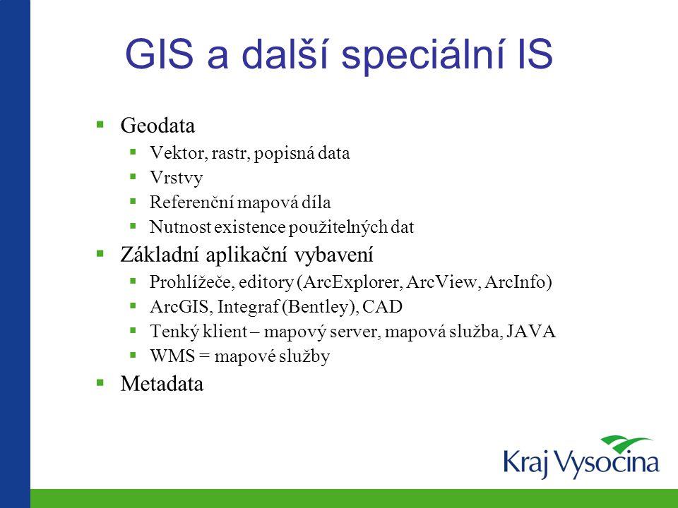 GIS a další speciální IS