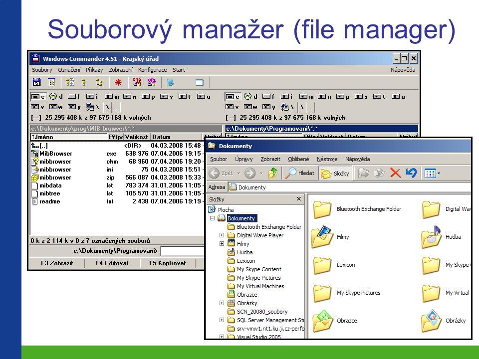 Souborový manažer (file manager)