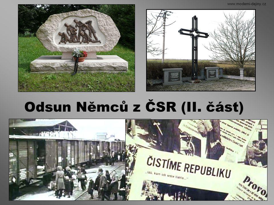 Odsun Němců z ČSR (II. část)