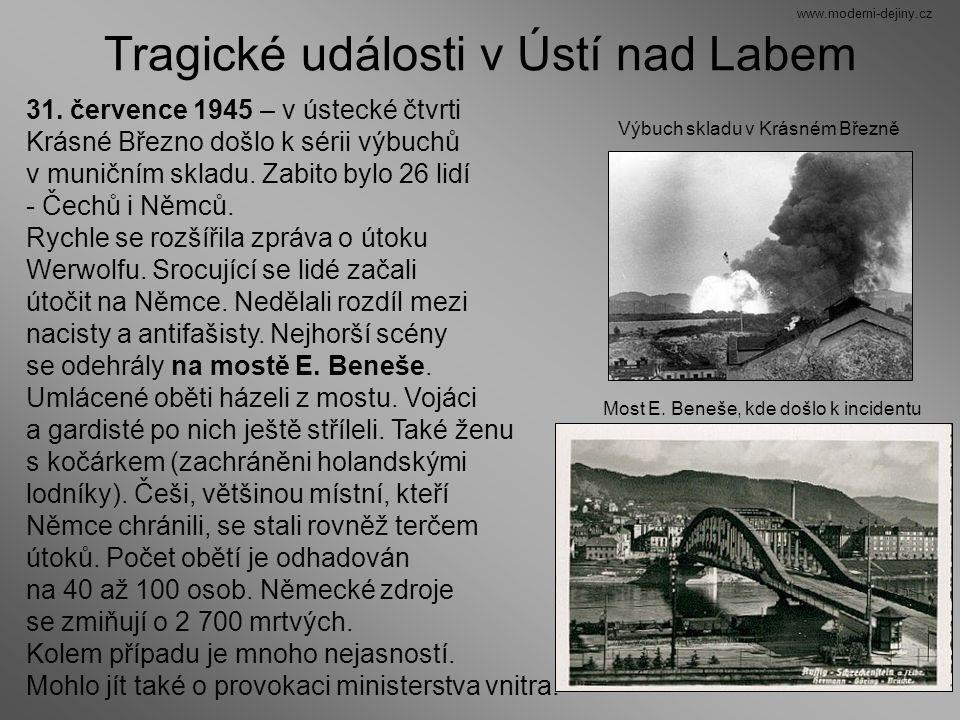 Tragické události v Ústí nad Labem