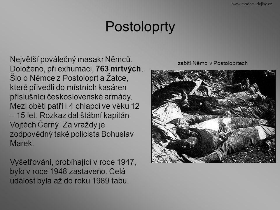 Postoloprty Největší poválečný masakr Němců.