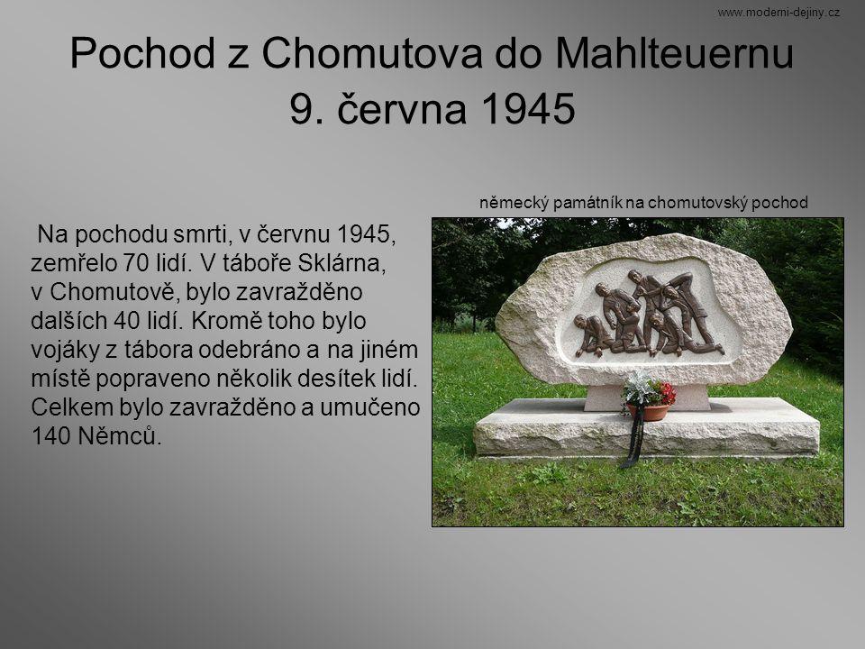 Pochod z Chomutova do Mahlteuernu 9. června 1945