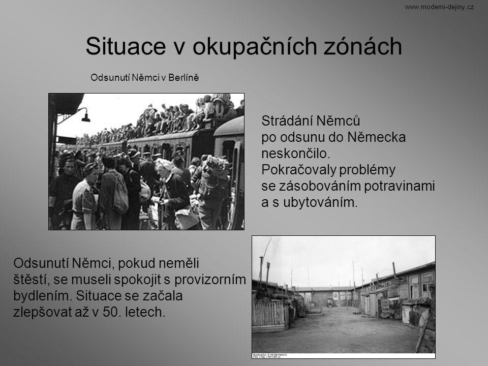 Situace v okupačních zónách