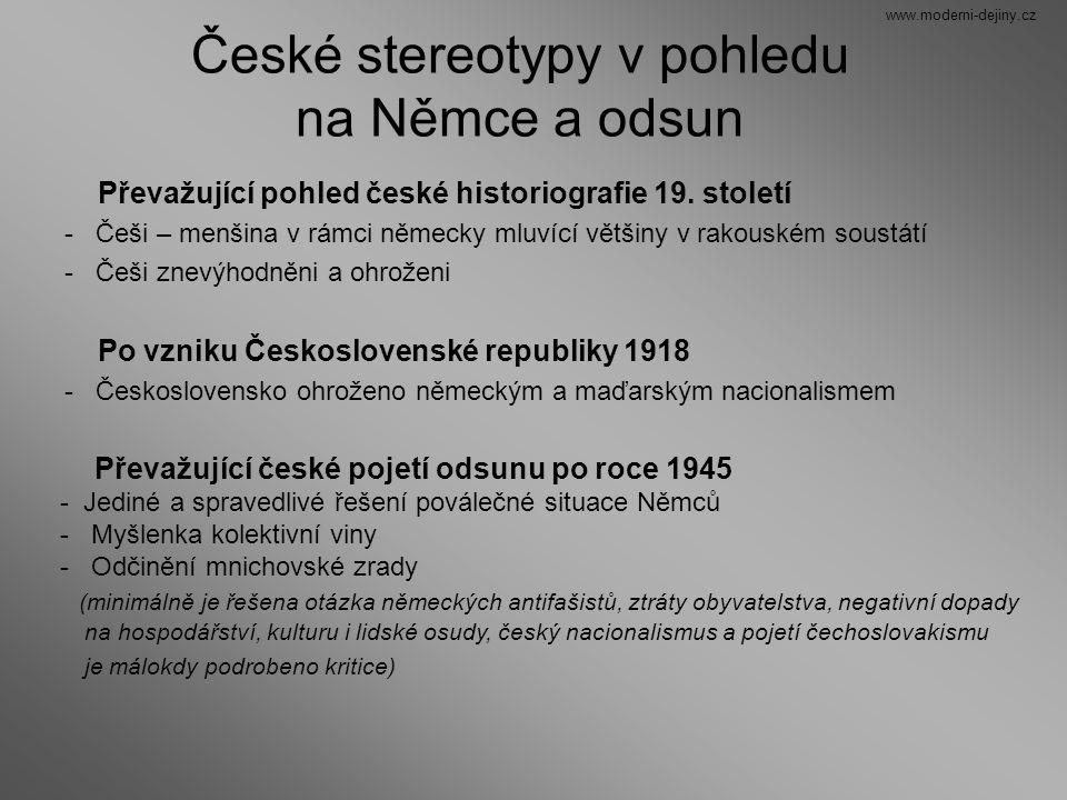 České stereotypy v pohledu na Němce a odsun
